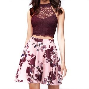 City Triangles Crop Top & Skirt Set Size 7